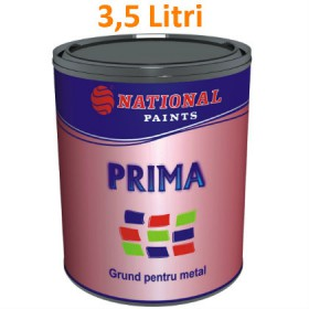 National Paints PRIMA Grund alchidic pentru metal 3,5 Litri